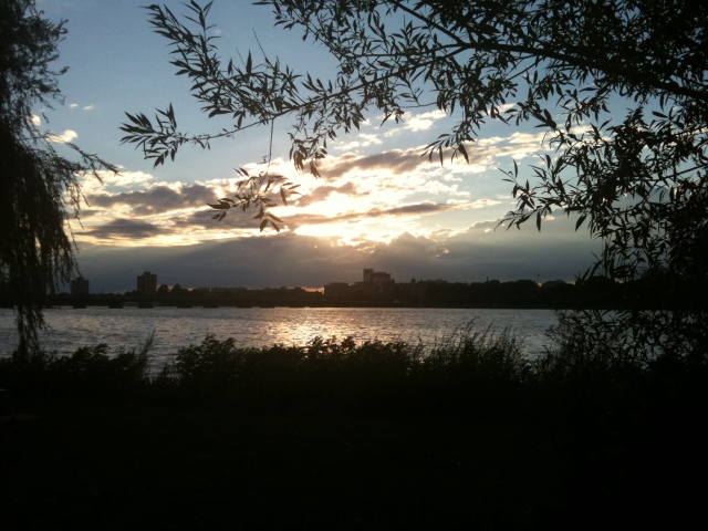 the view from my favorite spot in boston. along the charles river. where i often sat in silence.