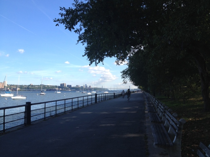 running along the hudson